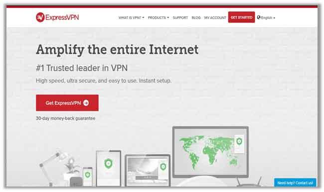 ExpressVPN connection