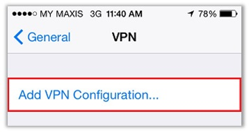 VPN Connection Smartphone Client
